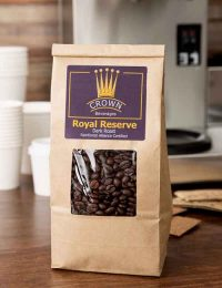 Kraft Tin Tie paper coffee pouches with window