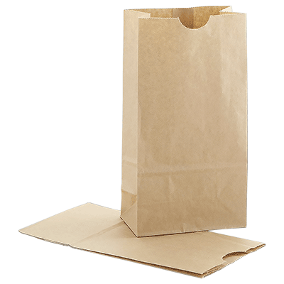 Kraft paper SOS bags flat bottom pouches