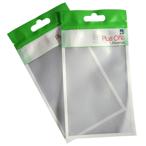 OPP pouches with header and hanging hole