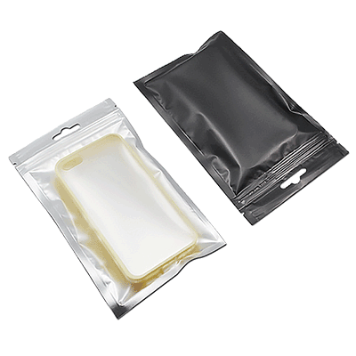 Plastic Zipper Packaging Bag Ziplock Resealable Hanging Hole Packing Pouch 400Z