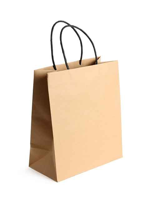 Recycle brown carry handbags shopping bags