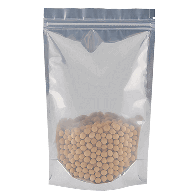 Stand up resealable zipper pouches