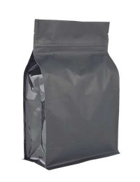 Zip Lock Matt Black Box Pouch Packaging Bags