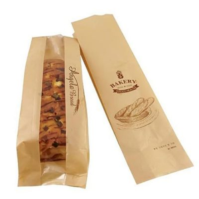 Brown Kraft Paper Bags Bakery Toast Packaging Bags