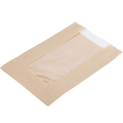 Kraft paper window panel bread bag
