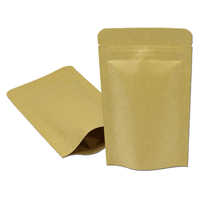 Resealable Kraft Paper Bags For Tea Gift Bag Packaging Aluminum Foil Zipper Food Pack