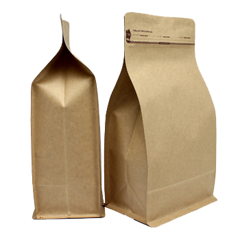 Kraft Box Pouches block bottom bags