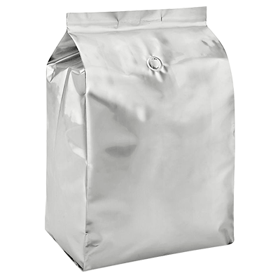 Metallic silver side gusset bags