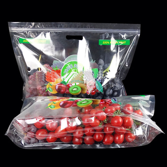 Clear stand up pouch fresh fruit packaging 6