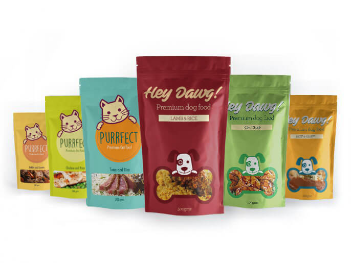 Pet Food Bag printed stand up pouch banner 1