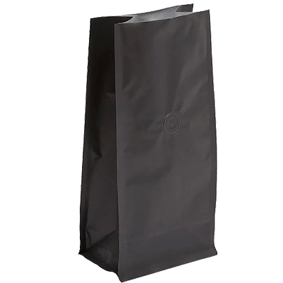 Roasted coffee bean block bottom pouch packaging bags