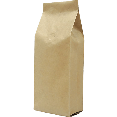 Roasted coffee bean side gusset bags