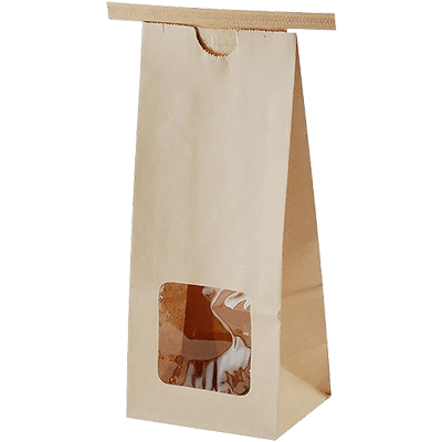 Roasted coffee bean tin tie kraft paper bags