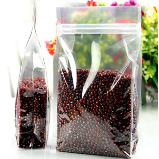 Stand-up high Transparency PET ZipLock Bags Clear Reusable plastic box pouches
