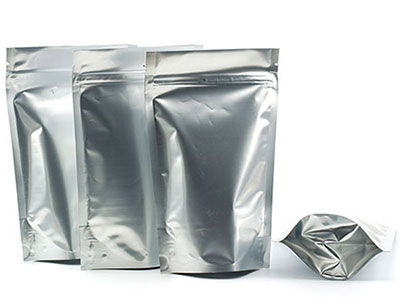 Silver Metallic Stand-up Pouches