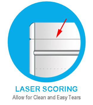 Laser scoring and micro perforations