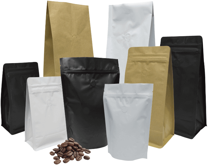 Coffee pouches packaging