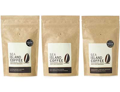 Kraft stand up coffee bags with custom label and valve