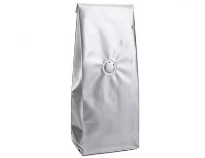 Silver Coffee Bags with Valve