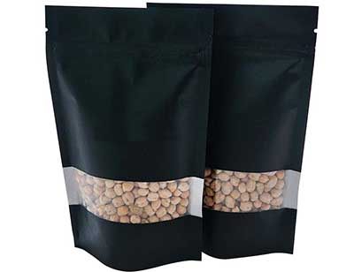 Stand up coffee bag With Rectangle Window